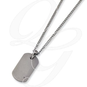 Titanium .02ct. Diamond Accent Necklace