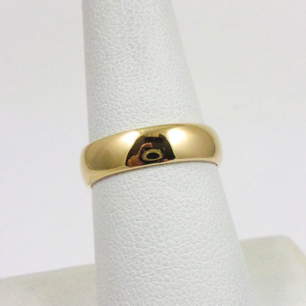 NEW Solid 18K Yellow Gold Plain Wedding Engagement Band/Ring 5mm, Sizes 3 - 15
