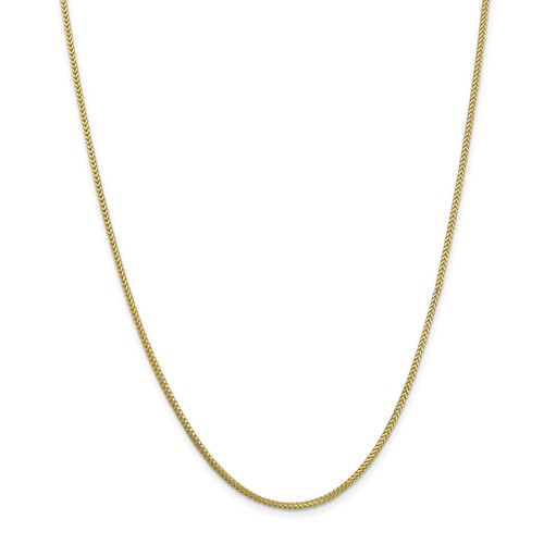 """Solid 10K Yellow Gold 30"""" Franco Chain, 2mm, 15.74 Grams"""