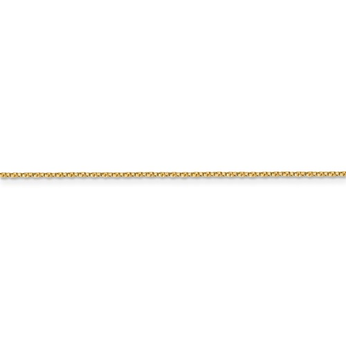 "Solid 14K Yellow Gold 24"" Twisted Box Chain, 0.95mm, 2.85 Grams"