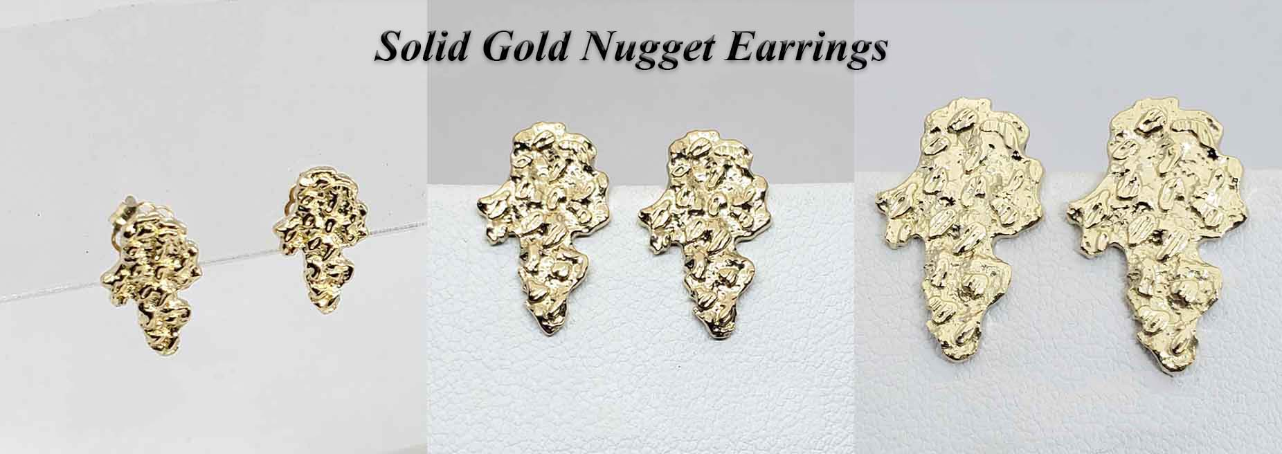 Solid Gold Nugget Earrings